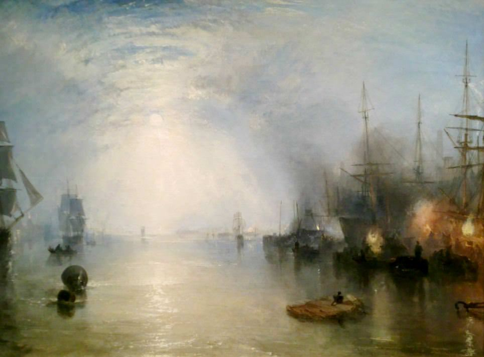 JMW Turner (1775-1851) - Keelmen Heaving in Coals by Night - 1835 oil on canvas