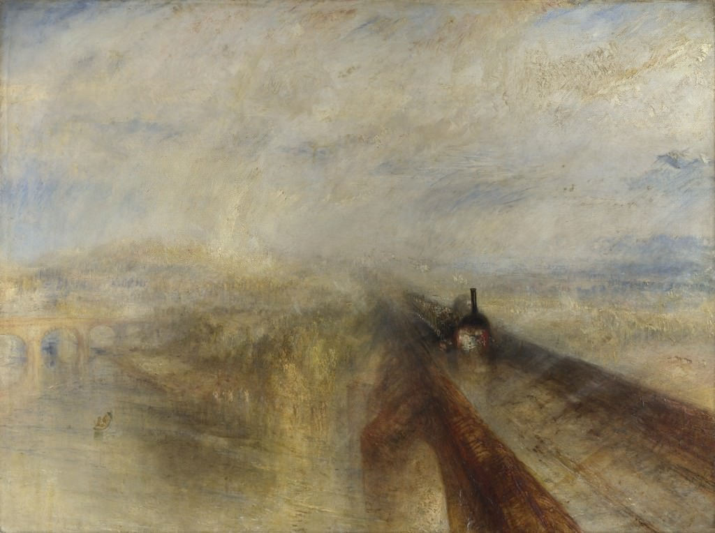 """Rain, Steam and Speed – The Great Western Railway"" (1844) by J.M.W. Turner (1775-1851), National Gallery, London."