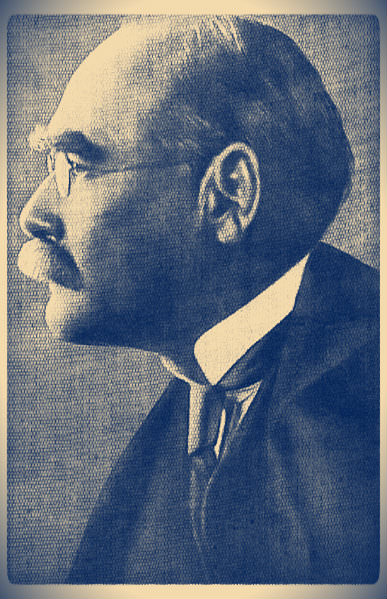 Rudyard Kipling (1865-1936). Photography by E.O. Hoppé (1912). Creative Commons. Public Domain.