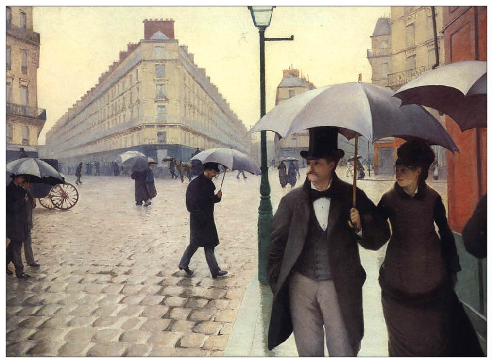 Paris Street; Rainy Day by Gustave Caillebotte (1848-1894)