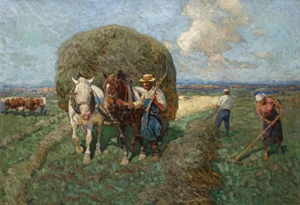 The Hay Cart, Fraz Roubaud (1856-1928).