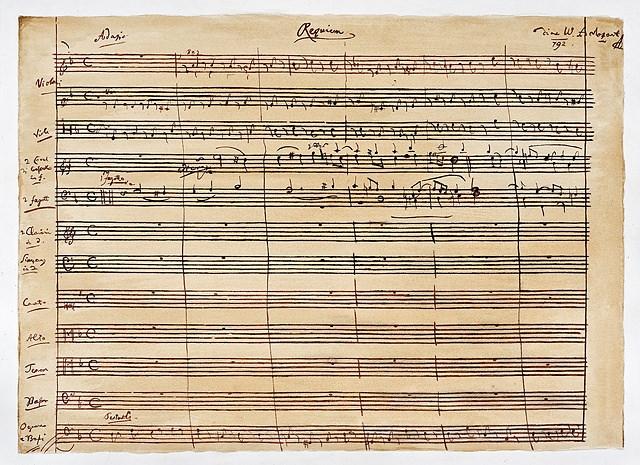 Mozart+handwritten+score+Requium
