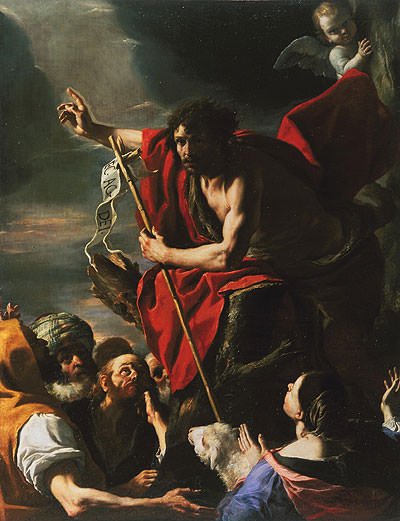 St. John the Baptist Preaching,1667 by Mattia Preti (1613-1699), Itlalian; Fine Arts Museums of San Francisco California USA