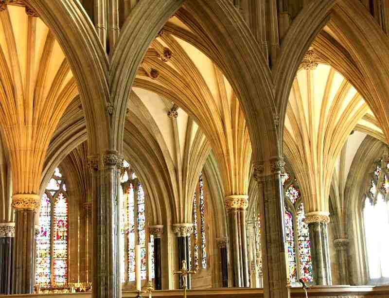 Interior of Wells Cathedral, United Kingdom.