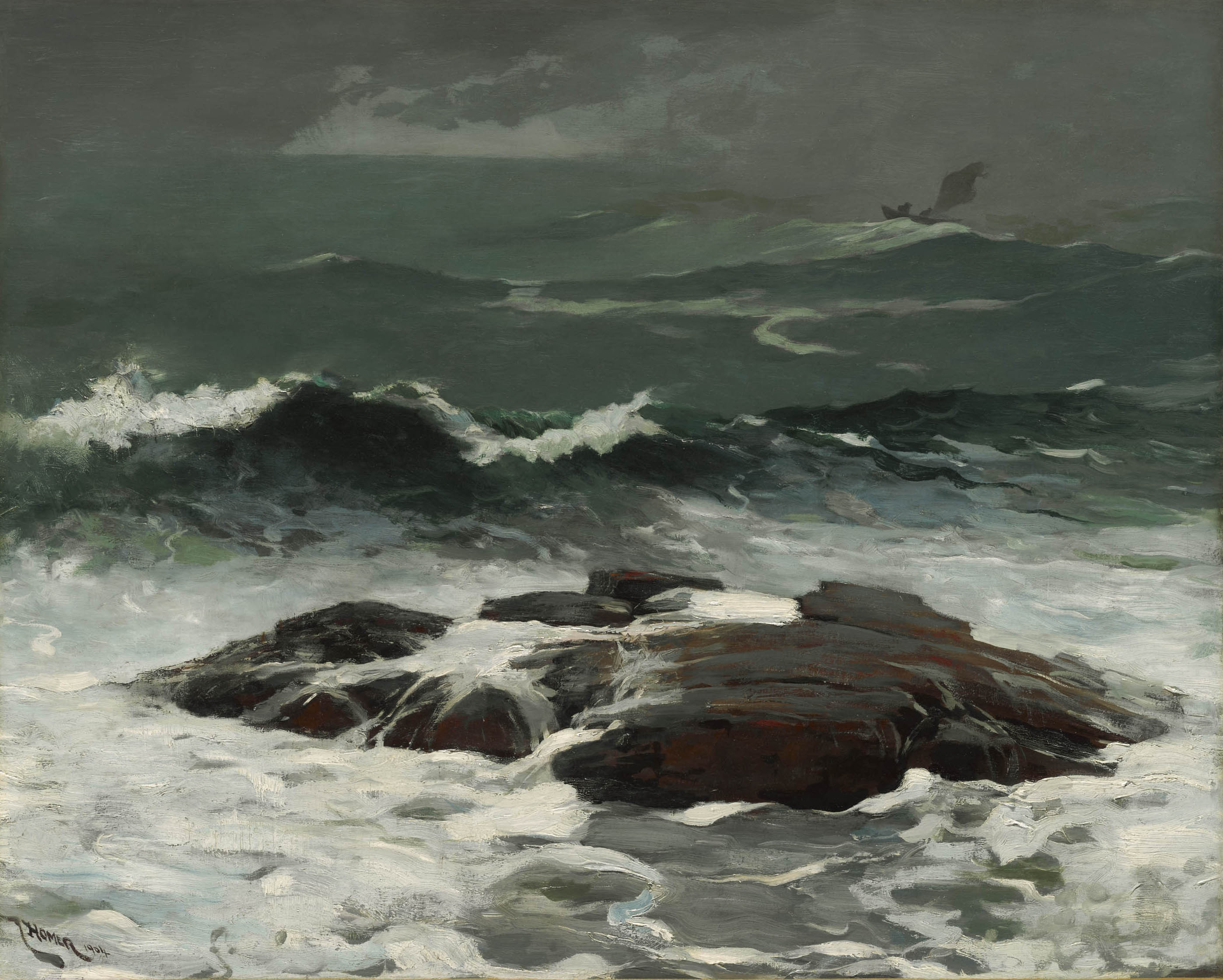 Winslow Homer (American, 1836–1910), Summer Squall, 1904. Oil on canvas, 24 1/4 x 30 1/4 in. (61.6 x 76.8 cm). Sterling and Francine Clark Art Institute, Williamstown, Massachusetts, 1955.8