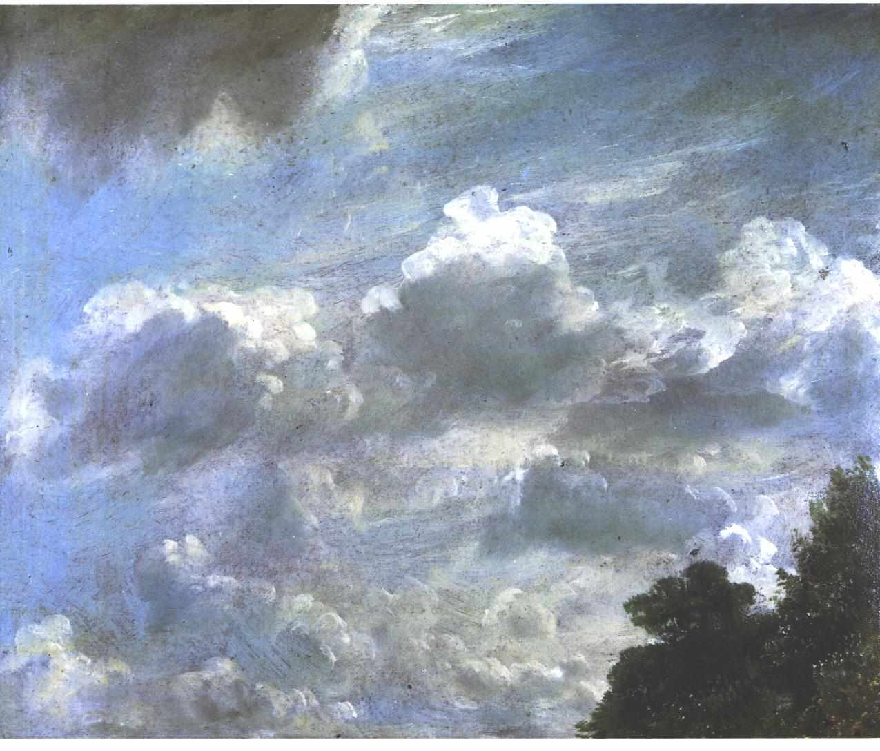 Cloud Study 1821, John Constable. Yale Centre For British Art, Hartford, Connecticut.