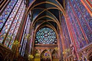 The Sainte-Chapelle is a royal medieval Gothic chapel, located near the Palais de la Cité, on the Île de la Cité in the heart of Paris, France, consecrated on 26 April 1248.