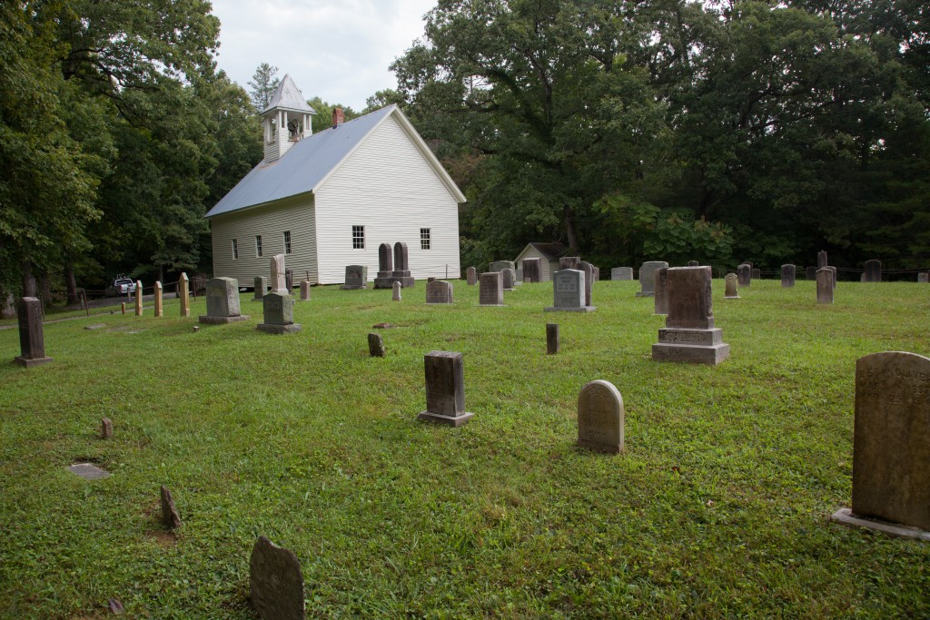 Graveyard and church of Cades Cove Baptist