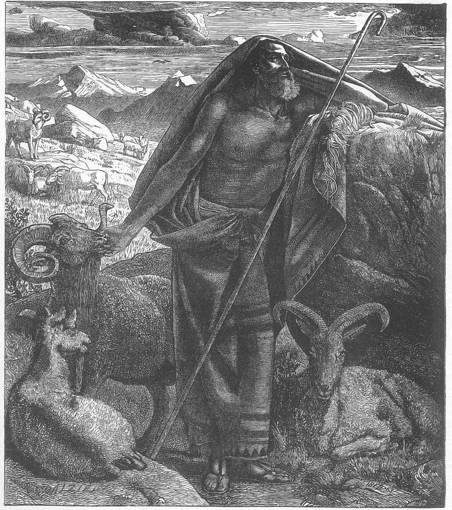 Edward Poynter (1836-1919). Wood engraving by the Dalziels. 7 x 6¼ inches. Dalziels' Bible Gallery, plate 26. Used by permission of Victorian Web.org.