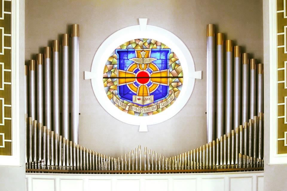 Erskine Theological Seminary Chapel window.
