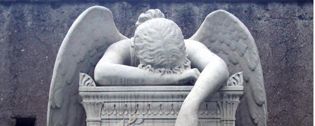 Image: William Wetmore Store, 1894 Angel of Grief, from Art in the Christian Tradition,  a project of the Vanderbilt Divinity Library, Nashville, TN.