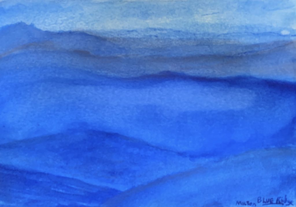 """The Carolina Blue Ridge"" M. Milton (ink wash), 2019."